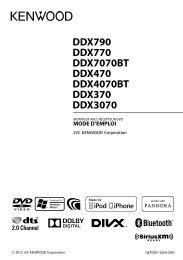 DDX790 DDX770 DDX7070BT DDX470 DDX4070BT ... - Kenwood