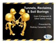 Tunnels, Reclaims, & Soil Borings