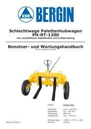 Schlechtwege Palettenhubwagen PH-RT-1200 - Rotek