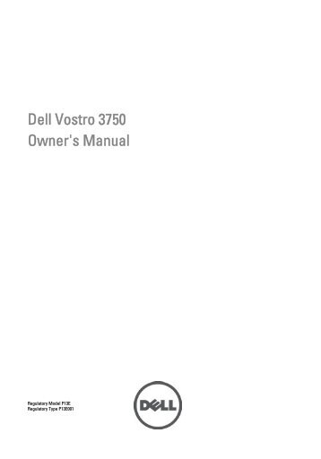 Dell Vostro 3750 Owner's Manual - Newegg.com