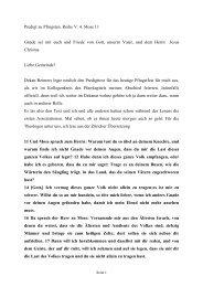 Predigt zu Pfingsten 4. Mose 11 2013