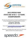 2013 speedo nsw state age 10 & u – 12 years championships - Page 2