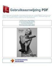 Gebruiksaanwijzing PHILIPS HB826 - GEBRUIKSAANWIJZING PDF