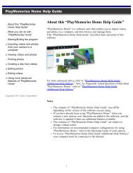 """About this """"PlayMemories Home Help Guide"""" - Sony"""
