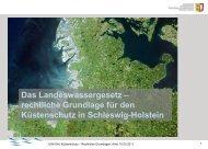 rechtliche Grundlage für den Küstenschutz in ... - Lust op dat Meer
