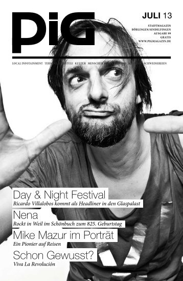 Day & Night Festival Nena Mike Mazur im Porträt ... - PIGmagazin