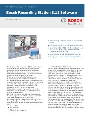 de-de - Bosch Security Systems