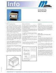 Control Units MAGTRONIC EBS