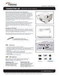 TX665UTiM-3D − Ultra Short Throw Projector