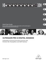 ULTRAGAIN PRO-8 DIGITAL ADA8000 Controls