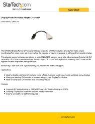 DisplayPort to DVI Video Adapter Converter StarTech ID: DP2DVI ...