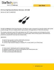 MXT101MMHQ30.pdf- 6ft VGA Monitor Extension Cable - HD15 M/F