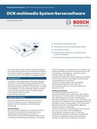 DCN multimedia System-Serversoftware - Bosch Security Systems