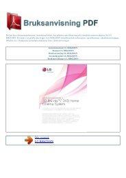 Instruktionsbok LG BH6220SN - BRUKSANVISNING PDF