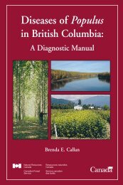 Foliar Diseases and Shoot Blights - Canadian Forest Service