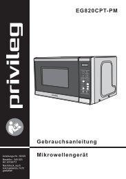 Gebrauchsanleitung Mikrowellengerät EG820CPT-PM