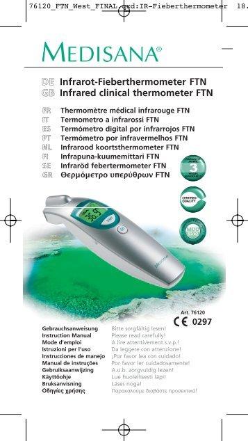 DEE Infrarot-Fieberthermometer FTN GBB Infrared clinical ... - Fonq.nl