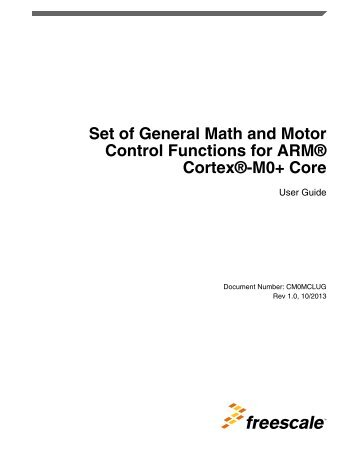 Set of General Math and Motor Control Functions for ARM Cortex ...