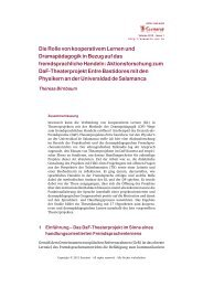 Die Rolle von kooperativem Lernen und Dramapädagogik in Bezug ...