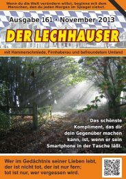 der Lechhauser - Nummer 161 - Ausgabe November 2013