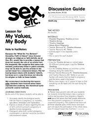 My Values, My Body - Answer