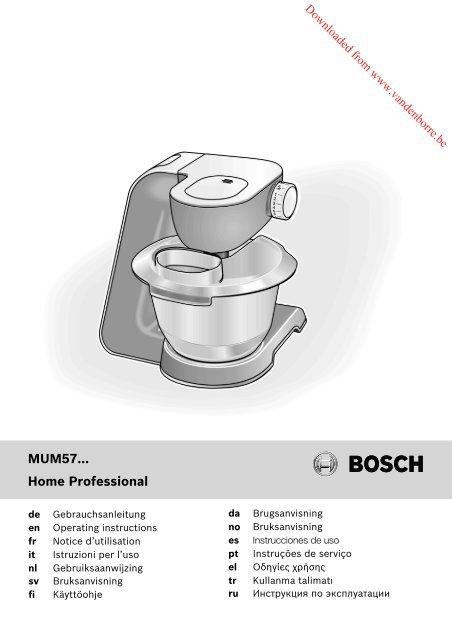 MUM57... Home Professional - Vanden Borre