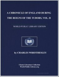 a chronicle of england during the reigns of the tudors, vol. ii