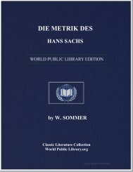 DIE METRIK DES HANS SACHS - World eBook Library