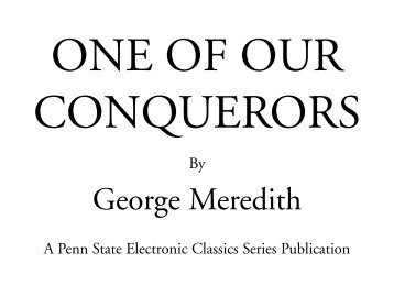 One of Our Conquerors - World eBook Library