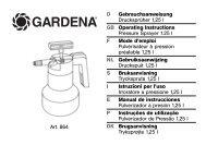 OM, Gardena, Drucksprüher 1,25 l, Art 00864-20, 2006-01