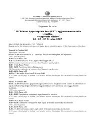 "Programma del corso "" Il Children Apperception Test (CAT ... - DPSS"