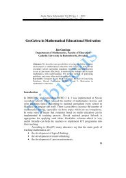GeoGebra in Mathematical Educational Motivation - Annals ...