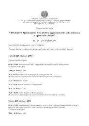 """"""" Il Children Apperception Test (CAT): aggiornamento sulla ... - DPSS"""