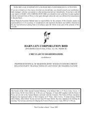 HARN LEN CORPORATION BHD - Announcements - Bursa Malaysia