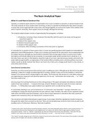 The Basic Analytical Paper - Bellevue College
