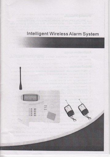 lntelligent Wireless Alarm System -4qa- '*?q