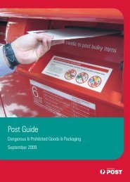Dangerous & Prohibited Goods & Packaging Post ... - Australia Post