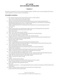 AP® LATIN 2013 SCORING GUIDELINES - The College Board