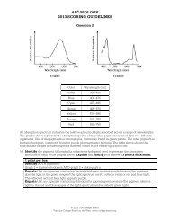 AP® BIOLOGY 2013 SCORING GUIDELINES - College Board
