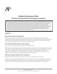 Student Performance Q&A: - The College Board