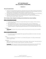 AP® PSYCHOLOGY 2013 SCORING GUIDELINES - College Board