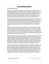 Critical Reading: Section 1 - College Board