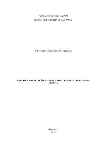 Ensaios sobre s ... no mercado de crédito.pdf - Sistema de ...
