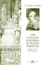 Page 1 SV. TOMAS AKVINIETIS APIE _ PAsźuLlo SUKURIMA IR ...