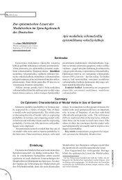 Zur epistemischen Lesart der Modalverben im Sprachgebrauch des ...