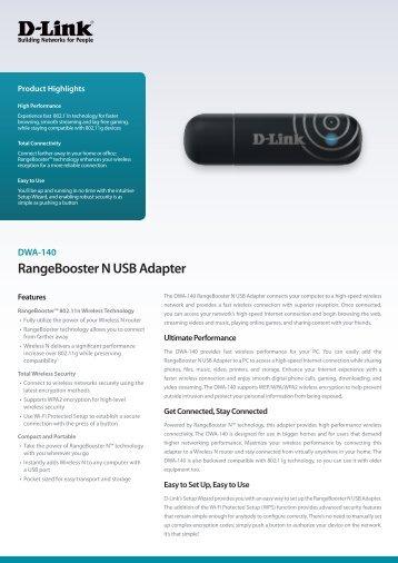 DWA-140 RangeBooster N USB Adapter
