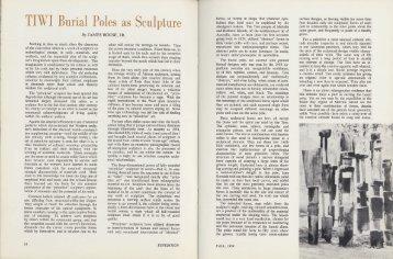 Tiwi Burial Poles as Sculpture - University of Pennsylvania Museum ...