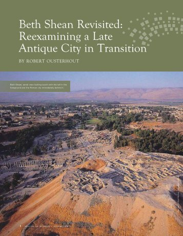 Beth Shean Revisited: Reexamining a Late Antique City in Transition