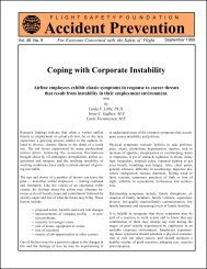 Coping with Corporate Instability - Flight Safety Foundation