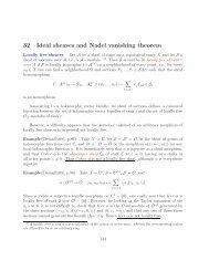 32 Ideal sheaves and Nadel vanishing theorem